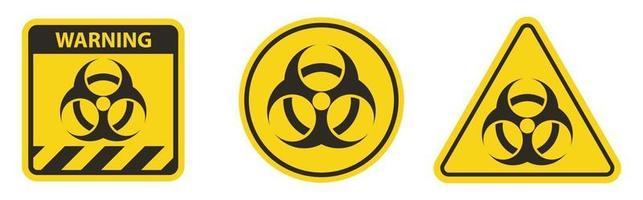 sinal de símbolo de aviso de radiação isolado em fundo branco vetor