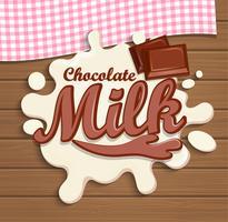 Respingo de chocolate ao leite. vetor
