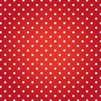 Fundo vermelho com pontos brancos.