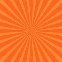 Fundo de raios laranja brilhante. vetor