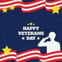 modelo de plano de fundo da celebração dos veteranos dos EUA vetor