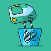 ilustração isolada do misturador eletrônico de mão em estilo simples vetor