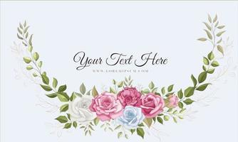 lindo fundo de flores desenhadas à mão vetor