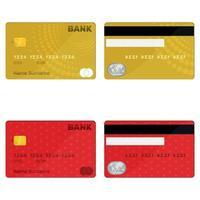 cartão de crédito bancário vetor