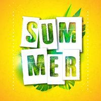 Ilustração de férias de verão