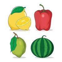 vetor de frutas