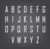 número de caracteres abc 3d vetor
