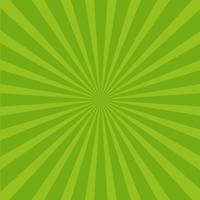 Fundo de raios verde brilhante. vetor