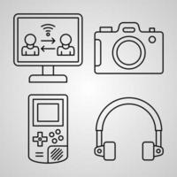 ícone de tecnologia definido ilustração vetorial eps vetor