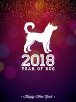 Ilustração do ano novo chinês de 2018 vetor