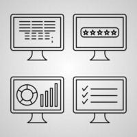 conjunto de ícones de programação de computador ilustração vetorial eps vetor