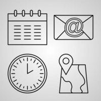 símbolo dos correios fundo branco ícones de contorno dos correios vetor