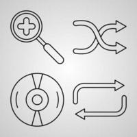 conjunto de ícones de elementos básicos ilustração vetorial eps vetor