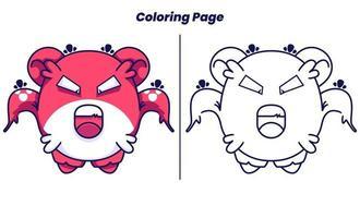 monstros fofos atacam com páginas para colorir vetor