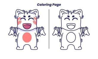 gato zumbi com páginas para colorir vetor