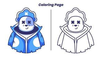gato pirata com páginas para colorir vetor