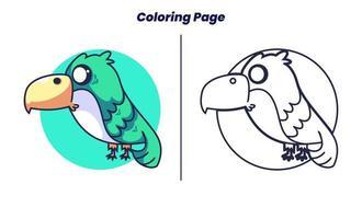 pássaros bonitos com páginas para colorir vetor