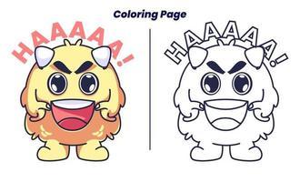 monstros atacam com páginas para colorir vetor
