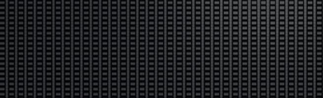 textura panorâmica de fibra de carbono preta e cinza vetor