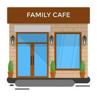 conceitos de café familiar vetor