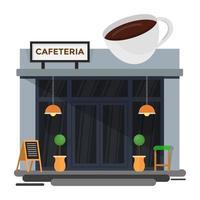 conceitos de cafeteria vetor