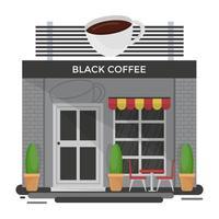 conceitos de café preto vetor