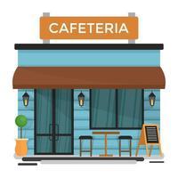 conceitos de cafeteria da moda vetor