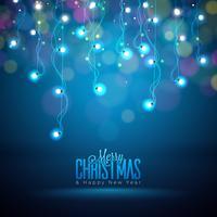 Ilustração de luzes de Natal brilhante vetor
