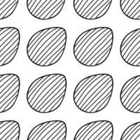 padrão sem emenda feito de ilustração de ovos de páscoa desenhados à mão vetor