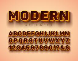 Alfabeto Font vetor