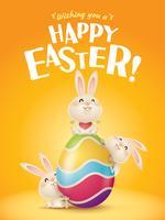 Feliz Páscoa! vetor