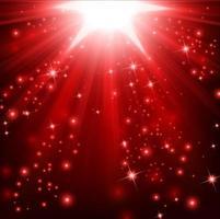 luzes vermelhas brilhando com brilhos, ilustração vetorial vetor