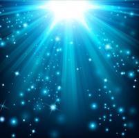 luzes azuis brilhando com brilhos, ilustração vetorial vetor