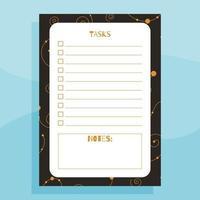 conceito de planejador de tarefas para impressão vetor