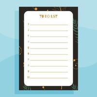 imprimível para fazer o conceito de planejador de lista vetor