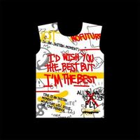 id desejo-lhe o melhor design de t-shirt de estilo de rua vetor