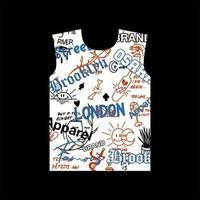 t-shirt gráfica estilo londres brooklyn osaka street vetor