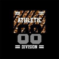 divisão atlética 88 camo simples vintage vetor