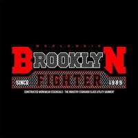 lutador do brooklyn mundial simples vintage vetor