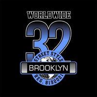 mundial brooklyn 32 simples vintage vetor