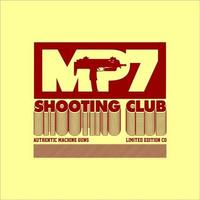 mp7 tiro clube simples vintage vetor