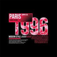 paris 1996 marca famosa vintage simples vetor
