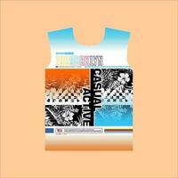 design de camiseta casual ativo estilo de rua do brooklyn vetor