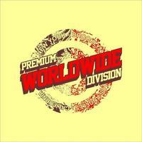 vintage simples divisão premium mundial vetor