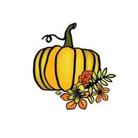 ilustração de abóbora de outono, isolado em fundo branco vetor