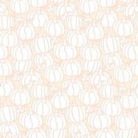 outono delikate laranja claro abóbora padrão sem emenda estilo cantoon vetor