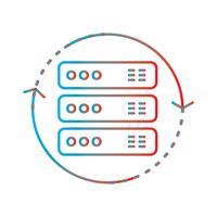 Gradiente de linha perfeita ícone Vector ou pictograma ilustração