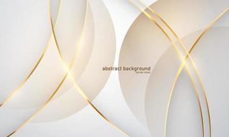 fundo abstrato luxo ouro branco moderno vetor