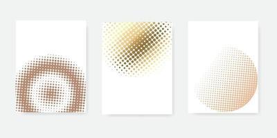 conceito de conjunto de meio-tom de estilo abstrato para seu design gráfico vetor