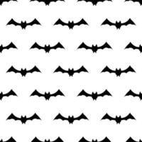 padrão de repetição sem costura com símbolos de halloween. silhuetas vetor